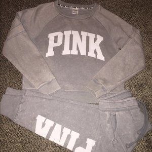 Gray Victoria's Secret Pink Outfit